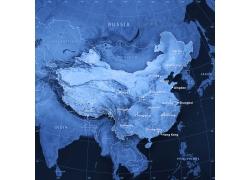 世界地图上的中国及其各个省市