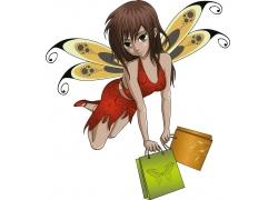 漫画精灵女孩图片