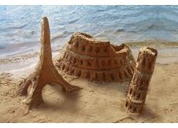 海滩上的沙雕