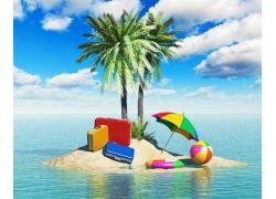 夏日海滩风景