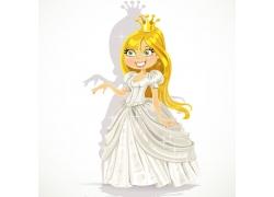 卡通公主女孩图片