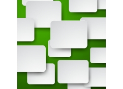 绿色背景下的白色方块矢量素材