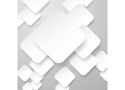 白色方块立体背景矢量素材