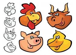 简笔画动物漫画图片