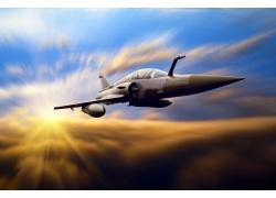 天空中的战斗机