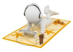 听音乐的3D小人