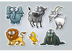 卡通动物漫画图片图片