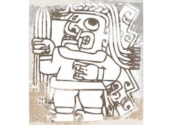 抽象人物印花图案