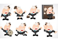 卡通商务人物插画图片