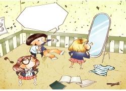 可爱卡通女孩漫画图片