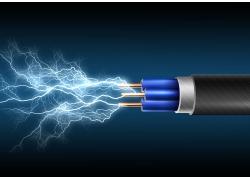 电线和闪电