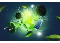 全球绿色能源宣传海报图片