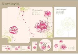 创意花朵VI模板