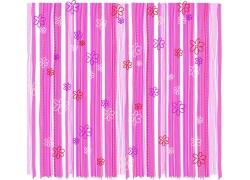 粉红条纹背景线条小花朵图案