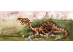 卡通恐龙插画图片