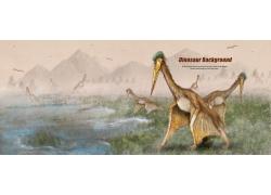 史前动物插画图片
