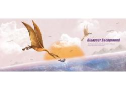 翼龙插画图片