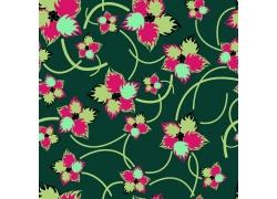 绿色背景下的手绘花