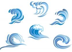 创意海浪水滴矢量图案
