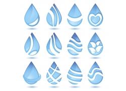 各种矢量水滴图案