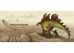 卡通恐龙漫画图片