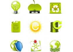 绿色环保标志图案