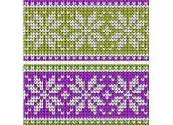 绿紫色小花编织力案