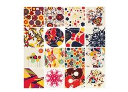 彩色抽象花纹素材