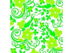 绿色花朵花枝素材