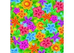 五颜六色花朵背景素材