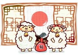 矢量卡通羊素材图片