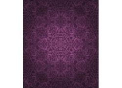 紫色背景矢量花纹图案