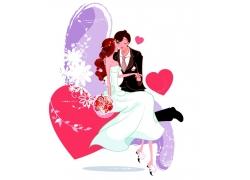 相亲相爱的新郎新娘