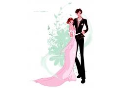 跳舞幸福的新郎新娘