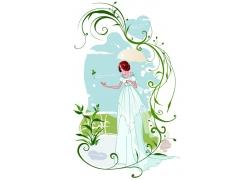 撑雨伞的新娘