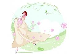 舞动裙摆的新娘