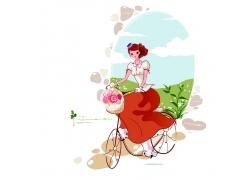 骑自行车的新娘