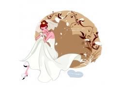 坐在的幸福新娘