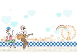 弹吉他的情侣