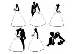 婚礼上的新人情侣