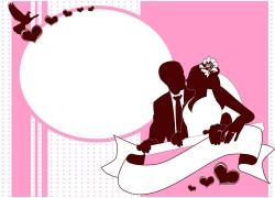 粉色婚礼请柬封面