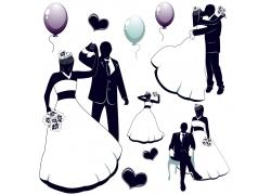 矢量婚礼图案
