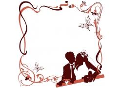 婚礼请柬剪影背景