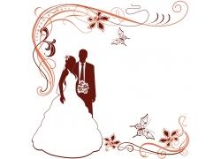 婚礼请帖背景图案