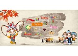 中国风广告展板