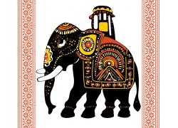 卡通大象插画图片