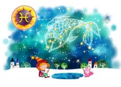 双鱼座女孩插画图片