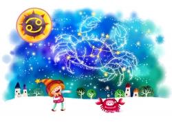 巨蟹座女孩插画图片
