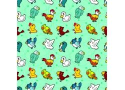 小鸟卡通动物背景