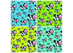 奶牛卡通动物背景